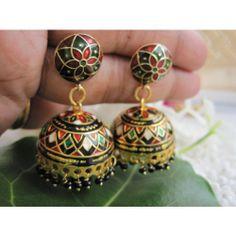 Online Jhumkas Meenakari From Craftsvilla