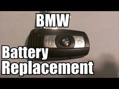 how to open a bmw key to change battery