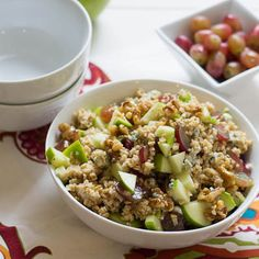 Steel-Cut Oats Waldorf Salad - have oats for lunch with this healthy, yet filling salad recipe.
