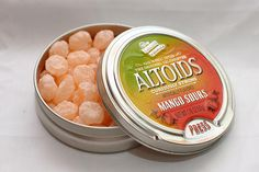 Did you have your tongue destroyed by mango sour Altoids? These were SO good (and legit sour)!