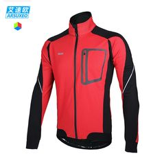 Waterproof Mens Cycling Jacket Fleece Thermal PU Leather Bike Wind Coat Winter