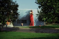 """Logos"" The Word, mural at Biola University in La Mirada, California by Kent Twitchell, 1990."