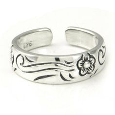 Sterling Silver Hawaiian Plumeria Flower Ocean Wave Adjustable Toe Band Ring Metal Factory. $0.01. Solid Sterling Silver w/ 925 Stamp. Free silver gift box. Adjustable sizing. Save 100%!