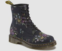 Details about Dr. Martens 1914 Black Leather Lace UpSide Zip Tall Boots Mens Size 6 Women's 7
