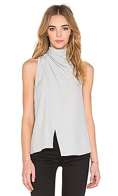 C/MEO Crossing Paths Silk Top in Silver | REVOLVE