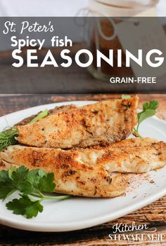If you love spicy, you'll love this fish seasoning even if you don't love fish! Peter's Spicy Fish Seasoning - made my husband, the fish hater, tolerate fish! Homemade Spices, Homemade Seasonings, Homemade Food, Whole Food Recipes, Dinner Recipes, Healthy Recipes, Healthy Foods, Meatless Recipes, Holiday Recipes