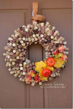 cork wreath #cork