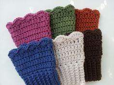 Pattern: Crochet Scalloped Boot Cuffs   Meylah