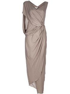 twisted and draped