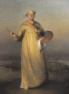 Odd Nerdrum - self portrait. Norwegian figurative painter. Themes and style in Nerdrum's work reference anecdote and narrative, while primary influences by the painters Rembrandt and Caravaggio place his work in direct conflict with the abstraction and conceptual art considered acceptable in much of his native Norway, and in opposition to the art of the time.