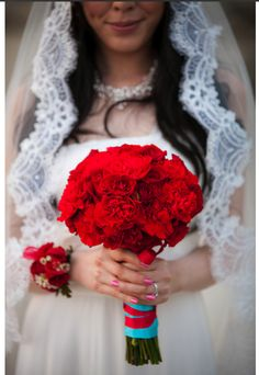 Red Bouquet - Roses and Carnations