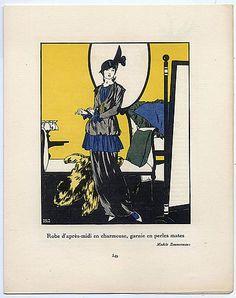 Gazette du Bon Ton 1913 Paul Méras, Zimmermann (Dressmaker)