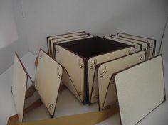 Box für Fotos und andere Schätze in Sonnengelb und Schmetterlinge. Groß 18x14cm Wunderschöne Fotobox,mit platz für 48 Fotos und noch mehr