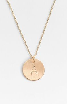 One in a million initial pendant necklace initial pendant nashelle 14k gold fill initial disc necklace aloadofball Image collections