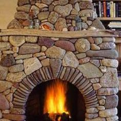 man made fire place