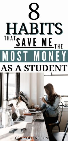 Do you want to learn how to save more money as a student? Do you want to know which habits can help you become a frugal student? Find out which 8 habits save me the most money as a student and become more frugal today! Ways To Save Money, Money Tips, Money Saving Tips, College Survival, Budget Planer, Managing Your Money, Frugal Living Tips, Budgeting Money, Save Me