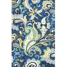 nice Jaipur Rugs Barcelona Calico 7.6 X 9.6 Indoor/Outdoor Rug - Blue/Ivory Check more at http://yorugs.com/shop/jaipur-rugs-barcelona-calico-7-6-x-9-6-indooroutdoor-rug-blueivory/