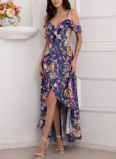 General Multicolor Day Dresses None Polyester Casual Spring Maxi XS Summer A-line Dress Floral Sleeveless V-Neckline Fall S M L XL Dress Stunning Prom Dresses, Elegant Dresses, Pretty Dresses, Casual Dresses, Short Dresses, Fashion Dresses, Best Casual Outfits, Crop Top Outfits, Dress Outfits
