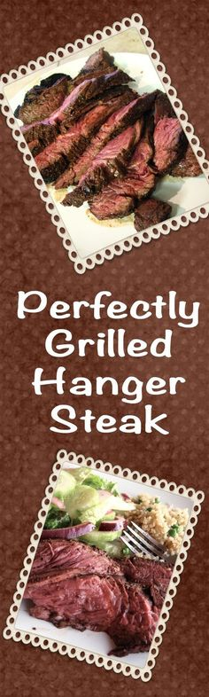 Perfectly Grilled Hanger Steak is one of the most delectable pieces of beef I have ever tasted - tender, juicy and perfectly seasoned, it is a real treat! | delishable.net