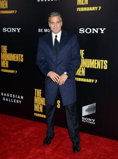 George Clooney at 'The Monuments Men' New York Premiere