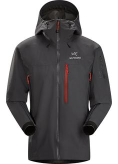 Arcteryx Theta SVX Jacket Men's A highly featured, severe weather condition jacket, designed for wet, stormy days. Our toughest and longest length waterproof jacket constructed with hardwearing GORE-TEX® 80D face fabric. Theta Series: All-round mountain apparel with increased coverage | SV: Severe Weather. 550g