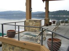 invisible wire indoor balcony railing   Deck, patio, porch, balcony cable railing - deck - by The Cable ...