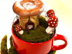I want to move in!  Mushrooms available at Morelandcreations.com mushroom