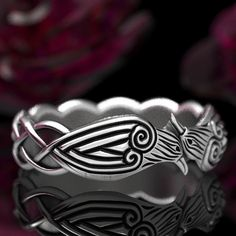 Silver Celtic Rings, Celtic Knot Ring, Celtic Knots, Celtic Raven, Viking Raven, Custom Jewelry Design, Unique Jewelry, Jewelry Accessories, Handmade Jewelry