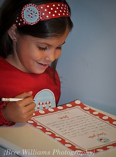 holiday headband tag and letter to Santa stationary by Dimple Prints  {bree williams photography}