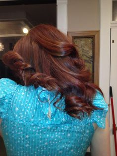 Work by Katy Winchester: Kenra Color 5C and 7CG   Kenra Professional.Hair Color