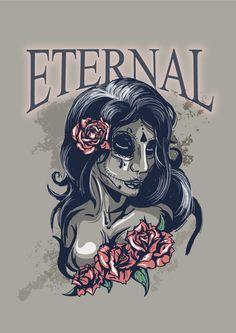 sugarskull girl, done in illustrator.
