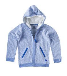 Sweat hoody - irregular light blue