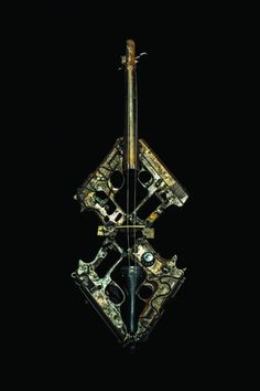That's a working musical instrument -- made by artist Pedro Reyes from destroyed Mexican weapons.