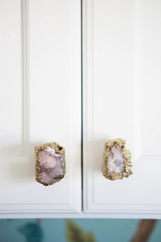 Quartz knobs: http://www.stylemepretty.com/living/2016/05/14/15-stunning-pieces-to-buy-from-this-show-stopping-home/