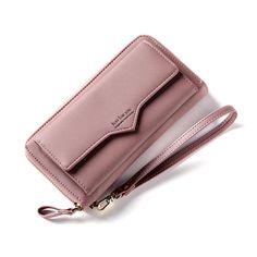 Damara Womens M atte Slim Tab Closure Clutch Credit Card Holder