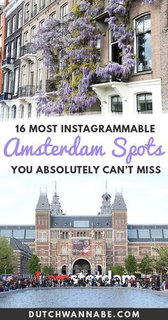 16 Instagrammable Amsterdam Spots To Fuel Your Travel Photo Addiction. The ultimate photo location guide to Amsterdam! Find out the most Instagrammable Amsterdam photo spots that you must visit during your Amsterdam city break! From the gingerbread houses on the Dam to the obscure gardens - this guide places every photogenic spot on the map...