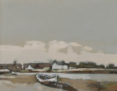 John Newland Brancaster Staithe Acrylic on Board Landscape Paintings, Landscapes, Clouds, Sky, Brown, Board, Inspiration, Paisajes, Heaven