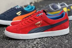 Flashy #PUMA #Clydes. Don't leave home without them.
