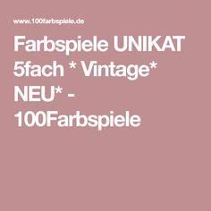 Farbspiele UNIKAT 5fach * Vintage* NEU* - 100Farbspiele