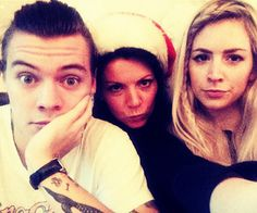 Family Styles... Harry, sister and mother