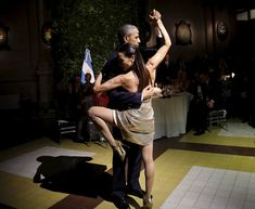 President Barack Obama dances tango during a state dinner hosted by Argentina's President Mauricio Macri. (Photo: Carlos Barria/Reuters)