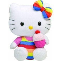 Hello Kitty Toy Stuffed Animal Plush Teddy Bear Cupcake Beanie Kid Christmas New #Sanrio