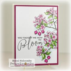 Flowering Branches Digital Stamp Set | Power Poppy by Marcella Hawley