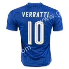 2016 European Cup Italy VERRATTI Home Blue Thailand Soccer Jersey