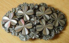 Silver-plated-shamrock-nurses-belt-buckle