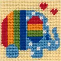 Anchor Counted Cross Stitch Starter Set for Beginners or Children Makes an ideal first cross stitch set. Simple, colourful designs, these lovely kits are great and will inspire confidence and help progress your craft. Stitched on 8 count white Aida fabric, this super kit is a delight & is fun to stitch. Perfect for framing or finishing as a decorative mini cushion/cushion panel ... or even a coaster ! This counted cross stitch starter kit includes everything needed to...