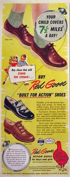 1949 Red Goose Children's Shoes Ad