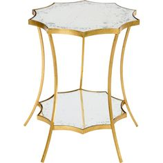 Estee Hollywood Regency Gold Leaf Solar Side Table (3,250 CNY) ❤ liked on Polyvore featuring home, furniture, tables, accent tables, gold leaf side table, solar table, tiered end table, old hollywood glamour furniture and hollywood regency side table