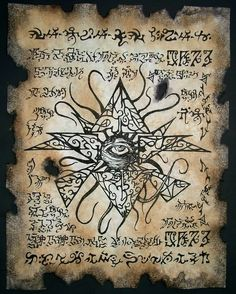 Necronomicon Artwork | ... Azathoth Necronomicon Lovecraft Arkham Witch Magick Occult Art | eBay