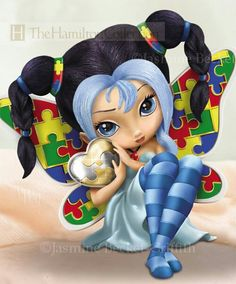 Jasmine Becket-Griffith Always Magical Autism Support Fairy Figurine - By The Hamilton Collection Hamilton Autism Tattoos, Autism Support, Kobold, Fairy Pictures, Witch Pictures, Fairy Figurines, Baby Fairy, Fairy Art, Cute Images